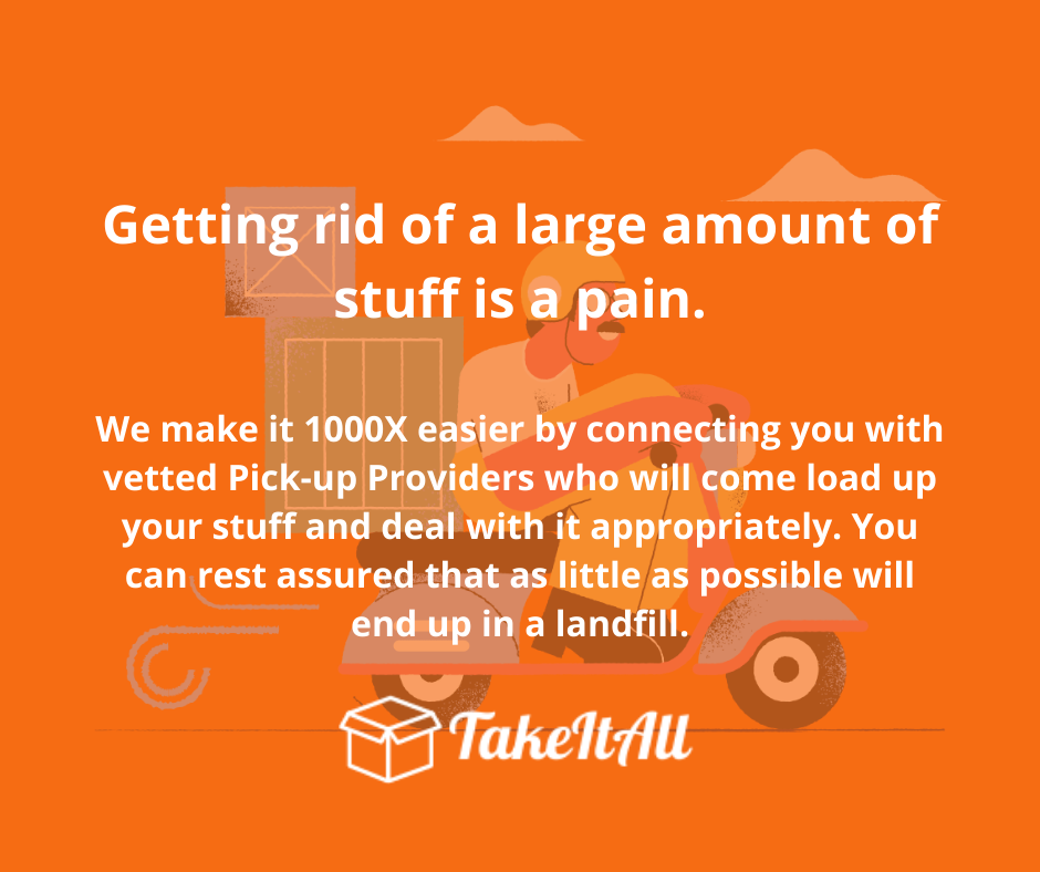 TakeItAll - Get rid of unwanted or unused items without the hassle.